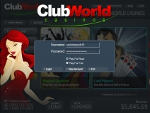 Club World Casino Bonus July 2018 screenshot # 21