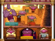 Aladdin's Gold Casino Bonus August 2014 screenshot # 2