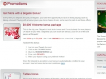 Begado Online Casino Bonuses April 2014 screenshot # 3