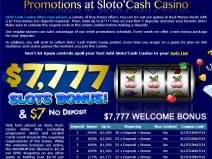 SlotoCash, Online Bonus Casinos December 2013 screenshot # 3