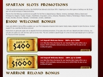Spartan Slots, High Rated Online Casinos March 2018 screenshot # 7