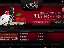 Ruby Royal Casino - New Online Casinos 2013 screenshot # 1