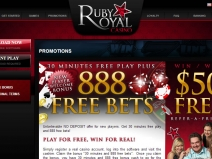 Ruby Royal Casino - New Online Casinos 2013 screenshot # 2